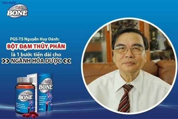 PGS.TS. Nguyễn Huy Oánh phát biểu về tác dụng của bột đạm thủy phân