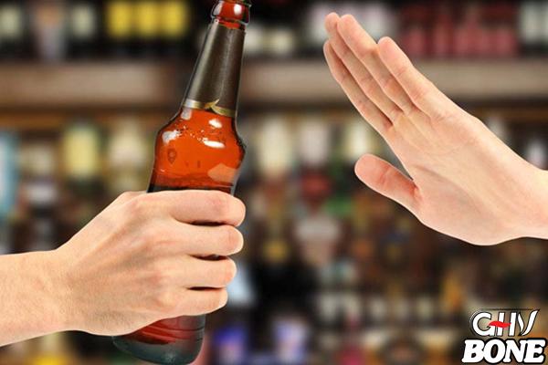 Hạn chế rượu bia, đồ uống có chất kích thích
