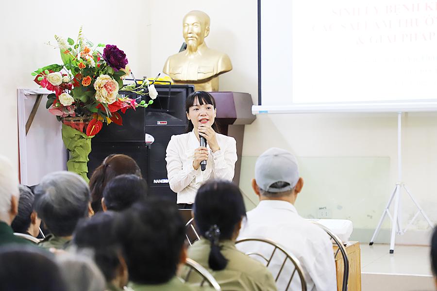 Bà Nguyễn Thị Vũ Thành – Phó Tổng GĐ Công ty Cổ phần dược phẩm Goldhealth Việt Nam
