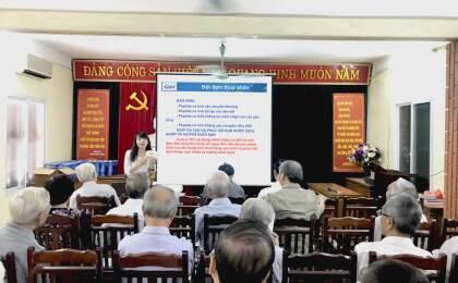 """Viên khớp GHV BONE mang quà tặng sức khỏe tới: """"Hội cựu Giáo chức Học viện Chính trị Quốc gia Hồ Chí Minh"""""""