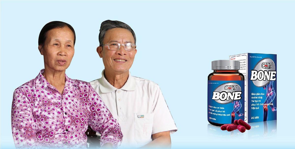 Ông Vận, bà Lanh rất tin tưởng vào sản phẩm Viên khớp GHV BONE