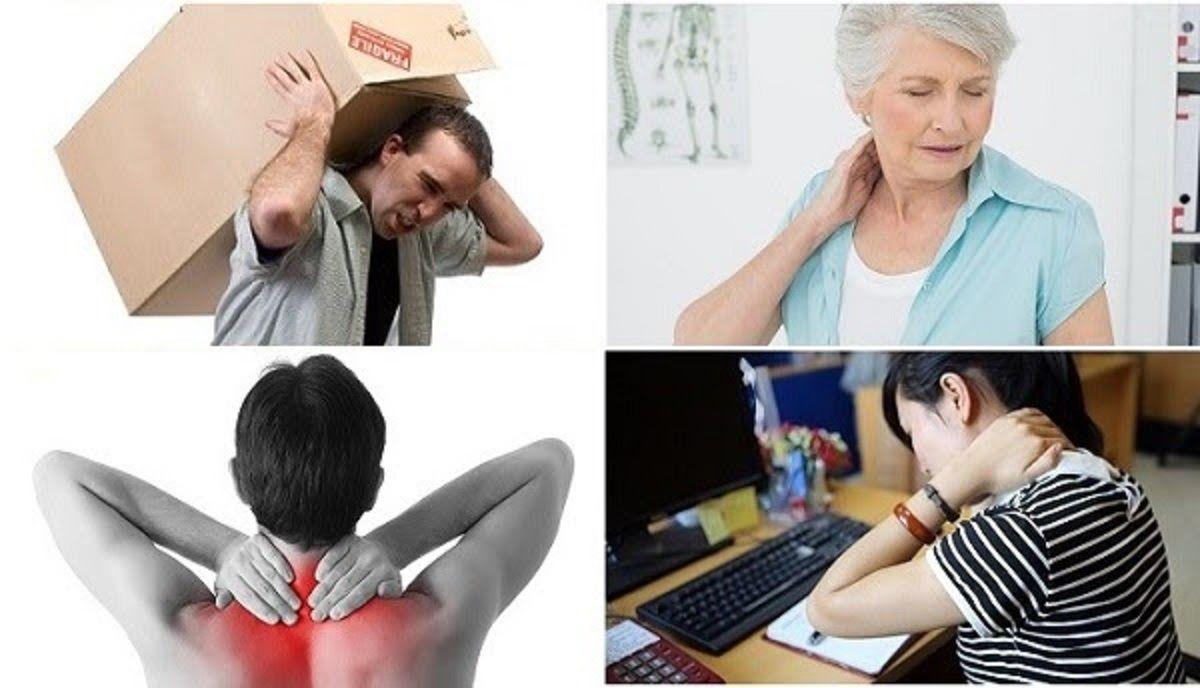 Thoát vị đĩa đệm cổ có thể xảy ra do bưng bê, mang vác vật nặng quá sức, ngồi làm việc sai tư thế,…