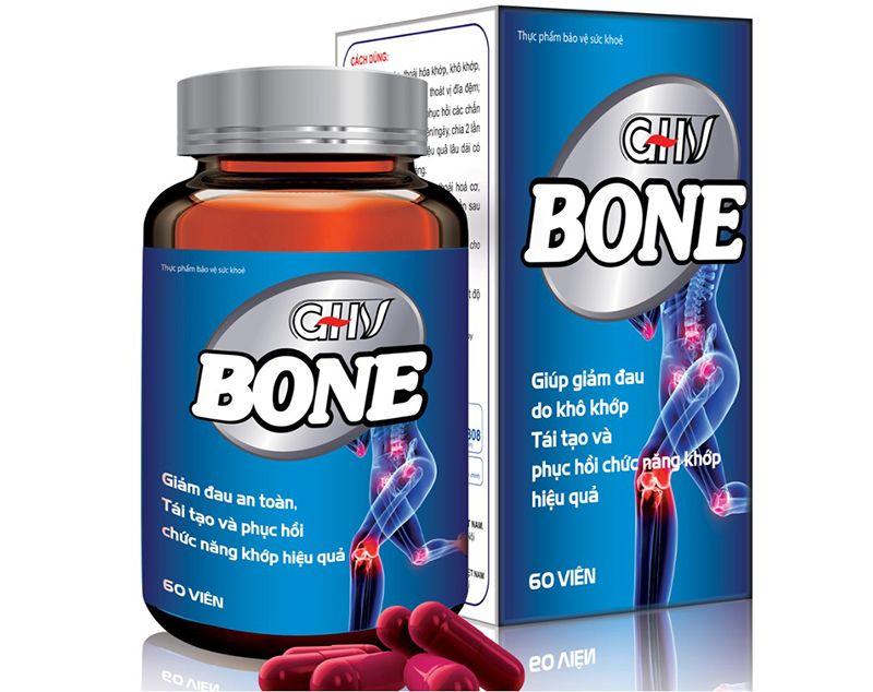 Viên khớp GHV BONE hỗ trợ đắc lực cho quá trình điều trị các bệnh xương khớp