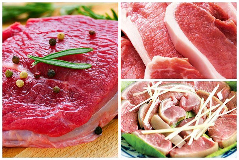 Thịt đỏ là nhóm thực phẩm không khuyến khích cho người bệnh gút