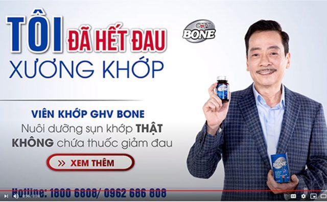 Viên khớp GHV Bone: Nuôi dưỡng sụn khớp thật – Không chứa thuốc giảm đau