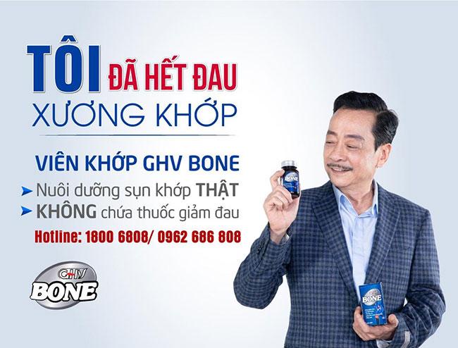 NSND Hoàng Dũng chủ động chọn sản phẩm Viên khớp GHV Bone để quảng cáo