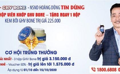 Hỗ trợ đặc biệt trị giá lên tới 3.150.000 VNĐ cho người bệnh xương khớp