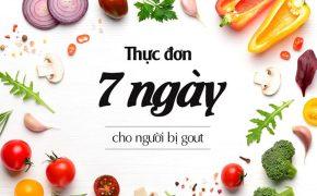 Gợi ý thực đơn 7 ngày đầy đủ dưỡng chất cho người bệnh gout